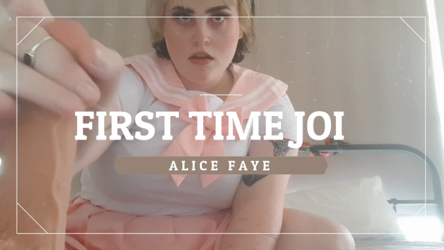 First Time JOI video from Alice Faye