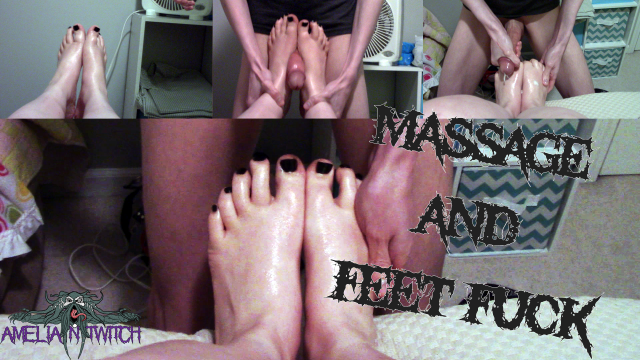 Massage and Foot Fuck video from Amelia