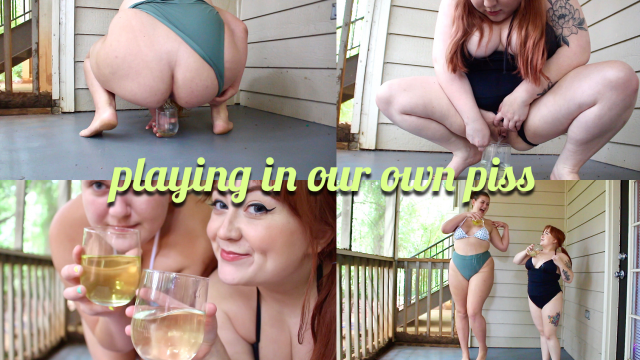 Peeing Outdoors and Pouring It On Ourselves video by Anna Sane