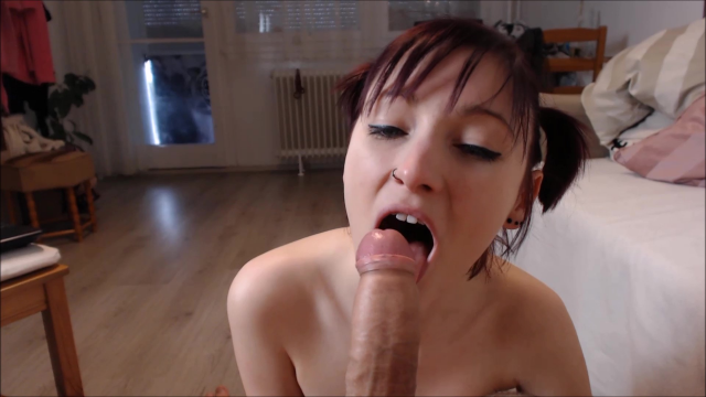 crazy naughty girl's cock worship video from Apixie