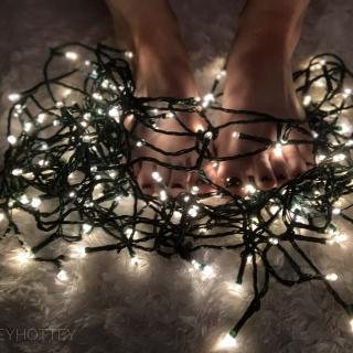 White Lights Feet Photoset photo gallery by Audrey Marie