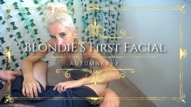 Blondie's First Facial video from AutumnKayy