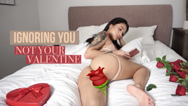 IGNORING YOU with my shaved pussy - not your valentine video by Avery Black