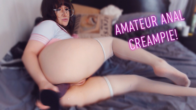 Amateur Anal Creampie video from Blueberryspice