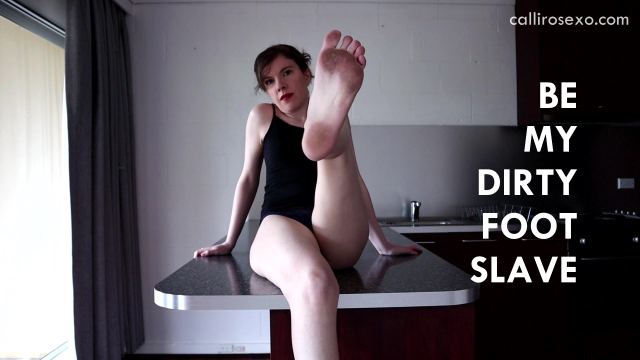 Be My Dirty Foot Slave video from CalliRoseXO