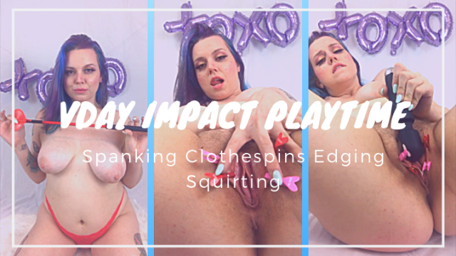 Valentine's Day Spanking Clothespin Playtime video from CelesteLuna