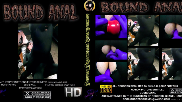 Bound Anal video by Cazzy Kush