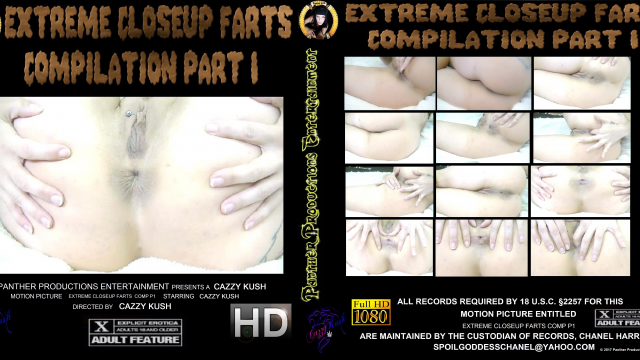Extreme Closeup Fart Compilation Part 1 video from Cazzy Kush