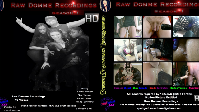 Raw Domme Recording Season One 16 Video's 1 Price video from Cazzy Kush