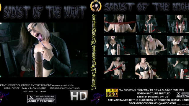 Sadist of the Night Evil CBT video by Cazzy Kush