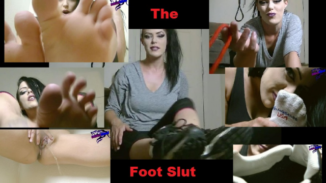 The Foot Slut video from Cazzy Kush