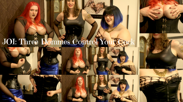 JOI Three Dommes Control Your Cock video by CricketRose