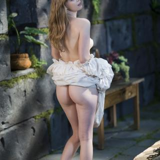Fantasy Garden Stripping and Masturbation photo gallery by Dolly Leigh