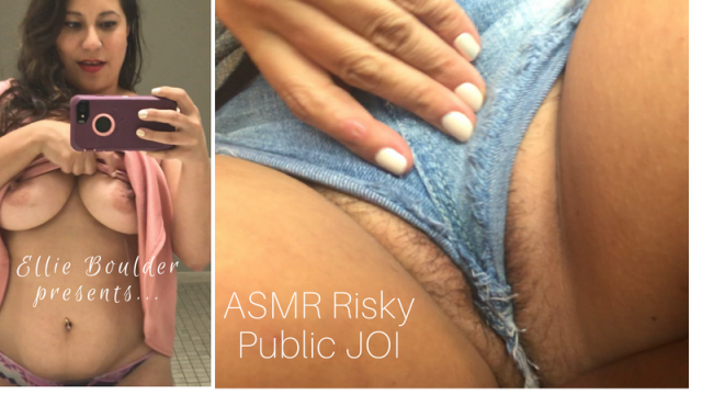 ASMR Risky Public JOI video from Ellie Boulder