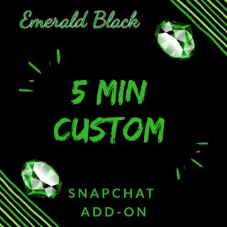 Flat rate custom video Snapchat add on photo gallery by Emerald Black