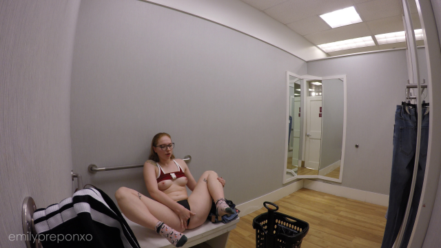 Public Masturbation in Dressing Room video from EmilyPreponXO