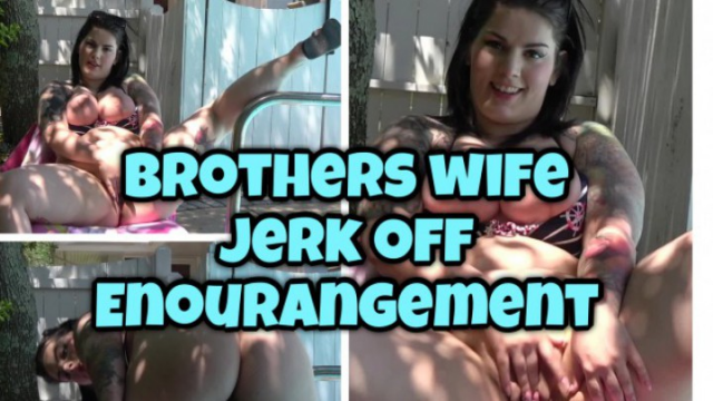 Brothers Wife jerk off encouragement POV video by Gabby Monroe