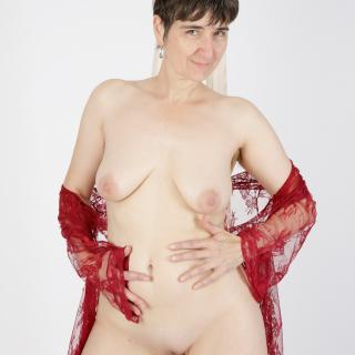 Red Negligee photo gallery by GermanHotMilf
