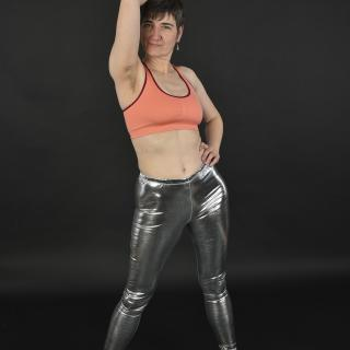 Silver Shine Pants photo gallery by GermanHotMilf