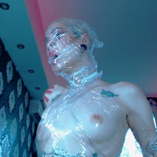 Suffoc4ting plastic wrap hoe photo gallery by Hentaidreamgirl