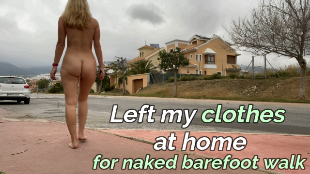 Embarrassed without clothes in public street video from IviRoses
