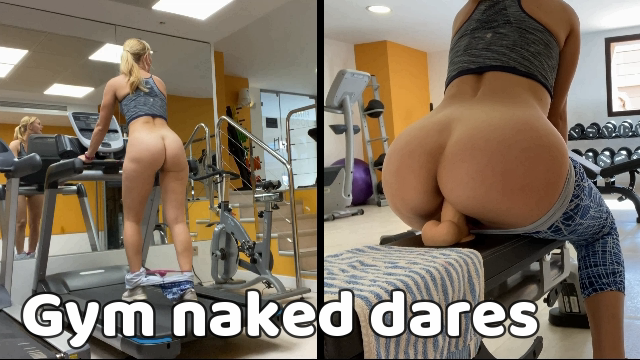 Gym naked risky dares video from IviRoses