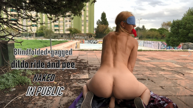 Risky naked cum and squirt in neighbourhood video from IviRoses