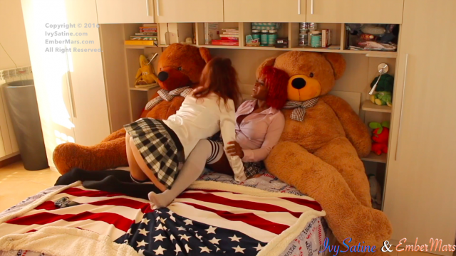 Lesbian Teens First Time w/ EmberMarss video from Ivy Satinee
