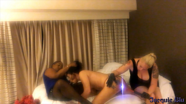 Spit Roasting The Cock Slut video from Jacquie Blu