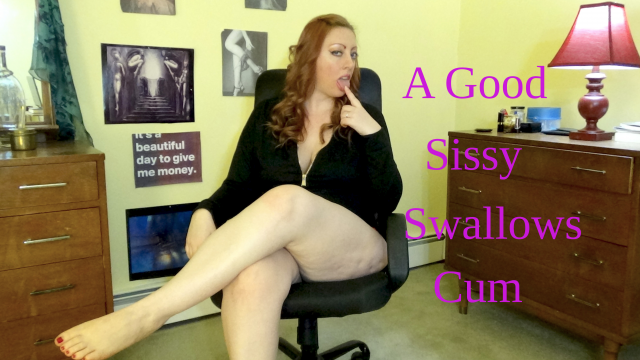 A Good Sissy Swallows Cum video by Josie6Girl