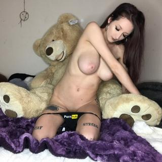 Noods with my teddy bear photo gallery by Kat