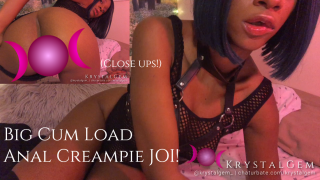 Big Cum Load Anal Creampie JOI w Closeup video by Krystal Gem