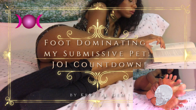 Foot Dominating My Sub Pet JOI Countdown video by Krystal Gem
