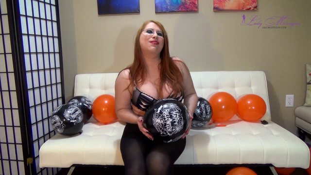 Popping Halloween Balloons video from Lady Morrigan