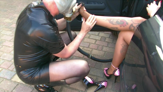 24/7 The Slave in the Car trunk - of my Audi video by Ladyvampira
