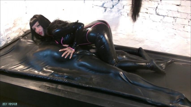 Milking the Rubber Slave video from Ladyvampira