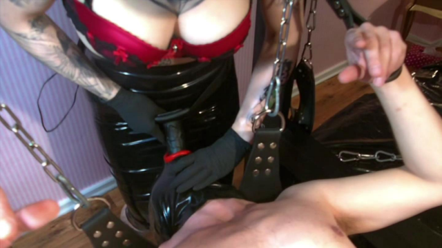 Scandal! The Strap On-Punishment of the Two-Hole-Mare video from Ladyvampira