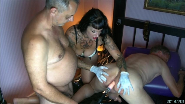 Amateur Porn Video : The Travel of Captain Cock to the 9 Bi-Slave-Gang-Bang Part 3 Ride on the steam engine