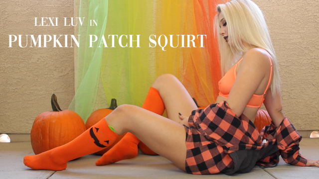 Pumpkin Patch Squirt video from Lexi Luv