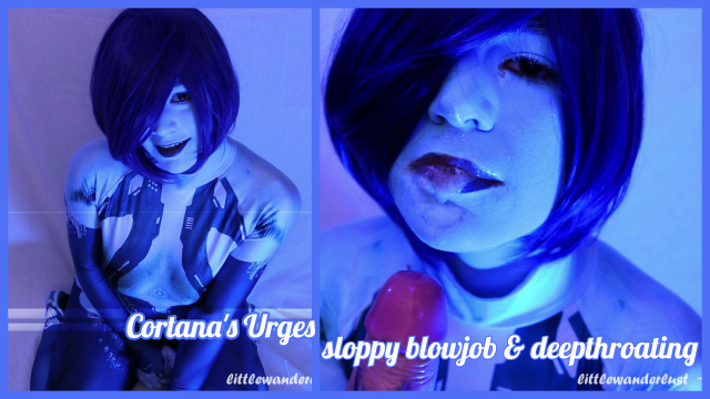 Cortana's Urges ~ sloppy BJ video from Wylie Wanderlust