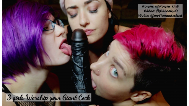 G/G/G Giant Cock Worship video from Wylie Wanderlust