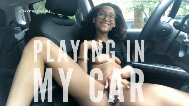 Candid Car Fingering video by Liv Pope
