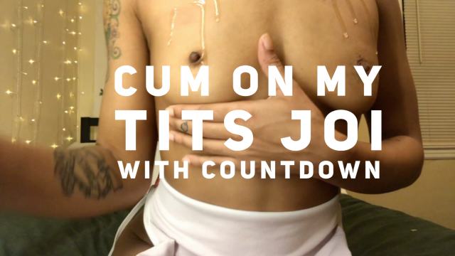 Cum on My Tits JOI video from Liv Pope