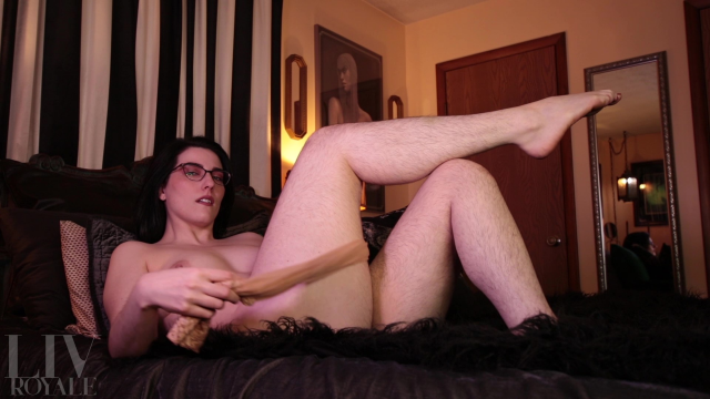 Sensual Hairy Legs & Stockings Tease video from Liv Royale
