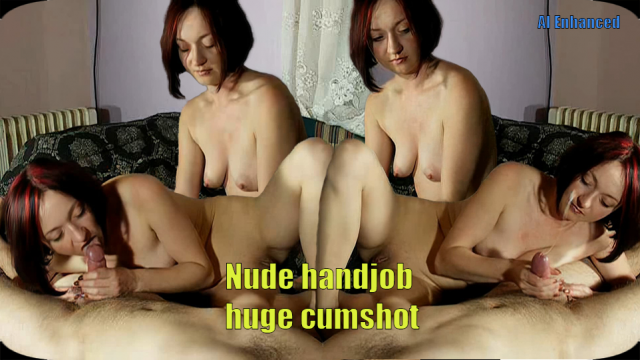 nude HJ with huge cumshot video from Maya