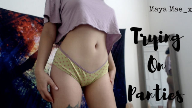 HD: Trying on Cute Panties video from Maya Mae-X