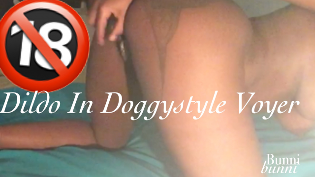 Dildo in Doggystyle Voyercam video from Melani Cream