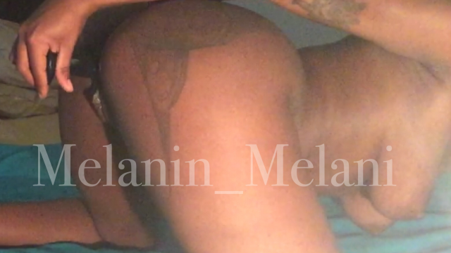 Dildo in Doggystyle video from Melanin Melani