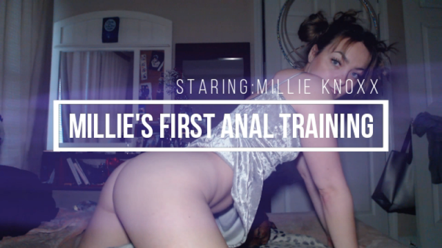 Millie's First Anal Training video from Millie Knoxx