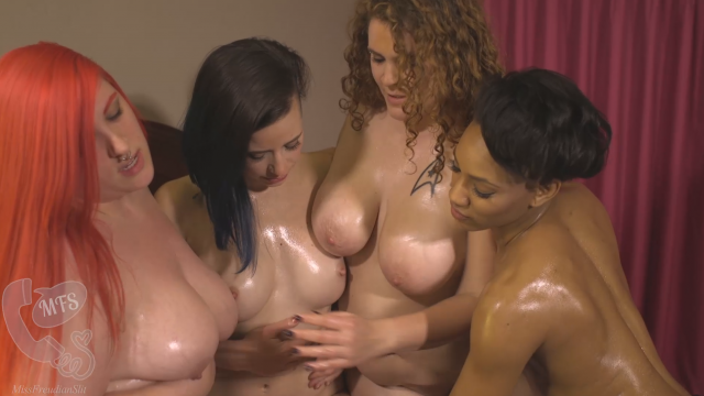 4 Oiled Up Babes video from MissFreudianSlit
